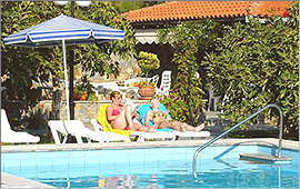 Swimming pool and pavillon